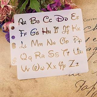 ECMQS - Plantillas para Pintar Letras del Alfabeto DIY (Lavable, Plantilla de Hueco para Pintar Carteles de Holzveranda, Uso en la Pared, Tela y Placas, etc.)
