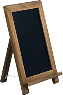 Rustic Wooden Framed Table Top Standing Chalkboard Sign with Non-Porous Magnetic Chalk Board Surface for Vintage Decor for Kitchen, Restaurant, Bar, Wedding, and Home