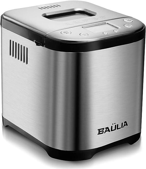 Baulia Automatic Bread Maker Machine - Sugar-Free Functions 15 Programmable Bread Types Settings
