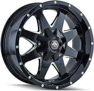 MAYHEM TANK (8040) BLACK/MILLED SPOKES: 18x9 Wheel Size; 6-135/6-139.7 Lug Pattern, 106mm Bore, 18mm Offset.