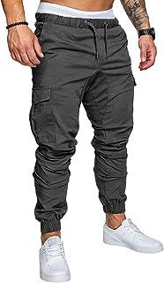VANVENE Pantalones de carga para hombre con múltiples bolsillos, pantalones tácticos de combate y trabajo, elásticos Wiast...