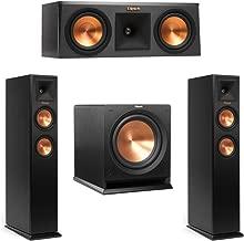 Klipsch 3.1 System with 2 RP-250F Tower Speakers, 1 RP-250C Center Speaker, 1 Klipsch R-112SW Subwoofer + AudioQuest Bundle