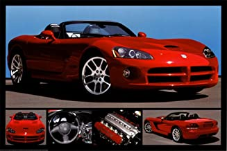 POSTER XXL POP ART DODGE VIPER ORANGE SW MUSCLE CAR USA DEKO ABSTRAKT BIS 150x90