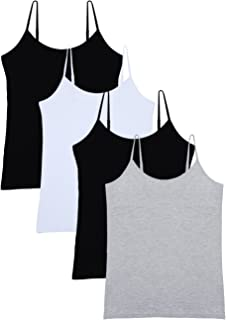 Women's Basic Solid Camisole Adjustable Spaghetti Strap...