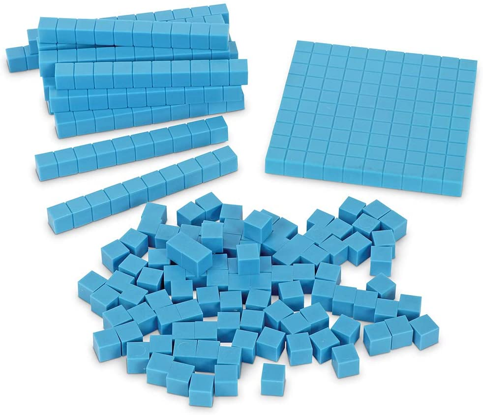 Learning Resources Base Ten Blocks Smart Pack, Early Childhood Math Skills, Ages 5+, Multicolor
