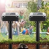 Ahuyentador solar de topos ultrasónico, repelente de topos, repelente de plagas IP65, resistente al agua, repelente de roedores, repelente de plagas, para jardín, césped, jardín