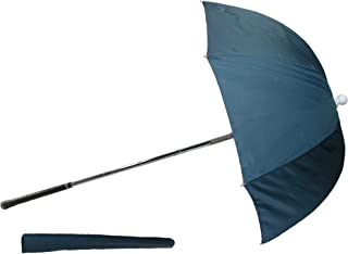 CTM Flexible Golf Bag Deflector Umbrella, Navy