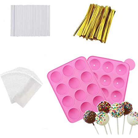 12 Round Lollipop Mould Tray Candy Chocolate Lollypop DIY Making Silicone Mold