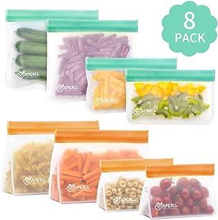Bolsas de almacenamiento reutilizables a prueba de fugas organizaci/ón de viajes en casa por Dorey-Hom 6 bolsas reutilizables para s/ándwich + 6 bolsas reutilizables bolsas para congelar