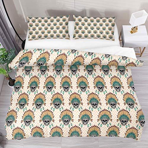 N \ A Juego de funda de cama de 3 piezas con diseño de ondas de carpa y 2 fundas de almohada con cierre de cremallera para niños, adolescentes, niños y niñas