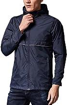 Elogoog Mens Long Sleeve Waterproof Jackets Casual Patchwork Hooded Tracksuit Full Zip