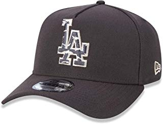 BONE 940 LOS ANGELES DODGERS MLB ABA CURVA SNAPBACK MARROM NEW ERA