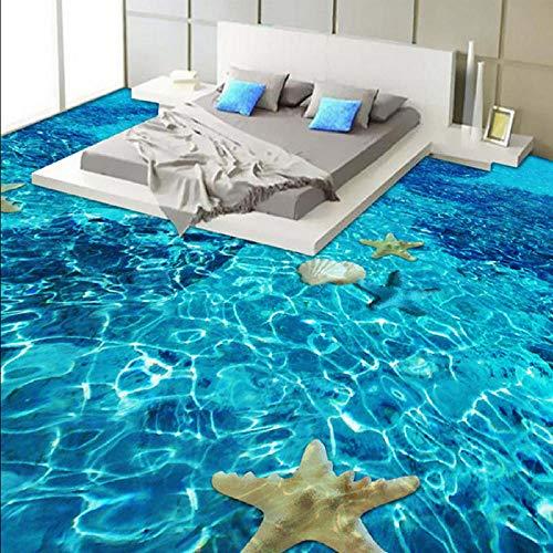 Gwgdjk 3D Stéréo Mer Starfish3D Golden Rose Paquet Souple Style Européen Photo Papier Peint Hotel Salon TéléviseurP De Luxe Intérieur E-200X140Cm (80 * 56Inch)