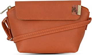 Baggit Autumn/Winter 2020 Faux Leather Women's Satchel Handbag (Orange) (Outside)