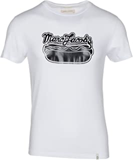 Marc Jacobs Men's White Hot Dog Print Crewneck T-Shirt
