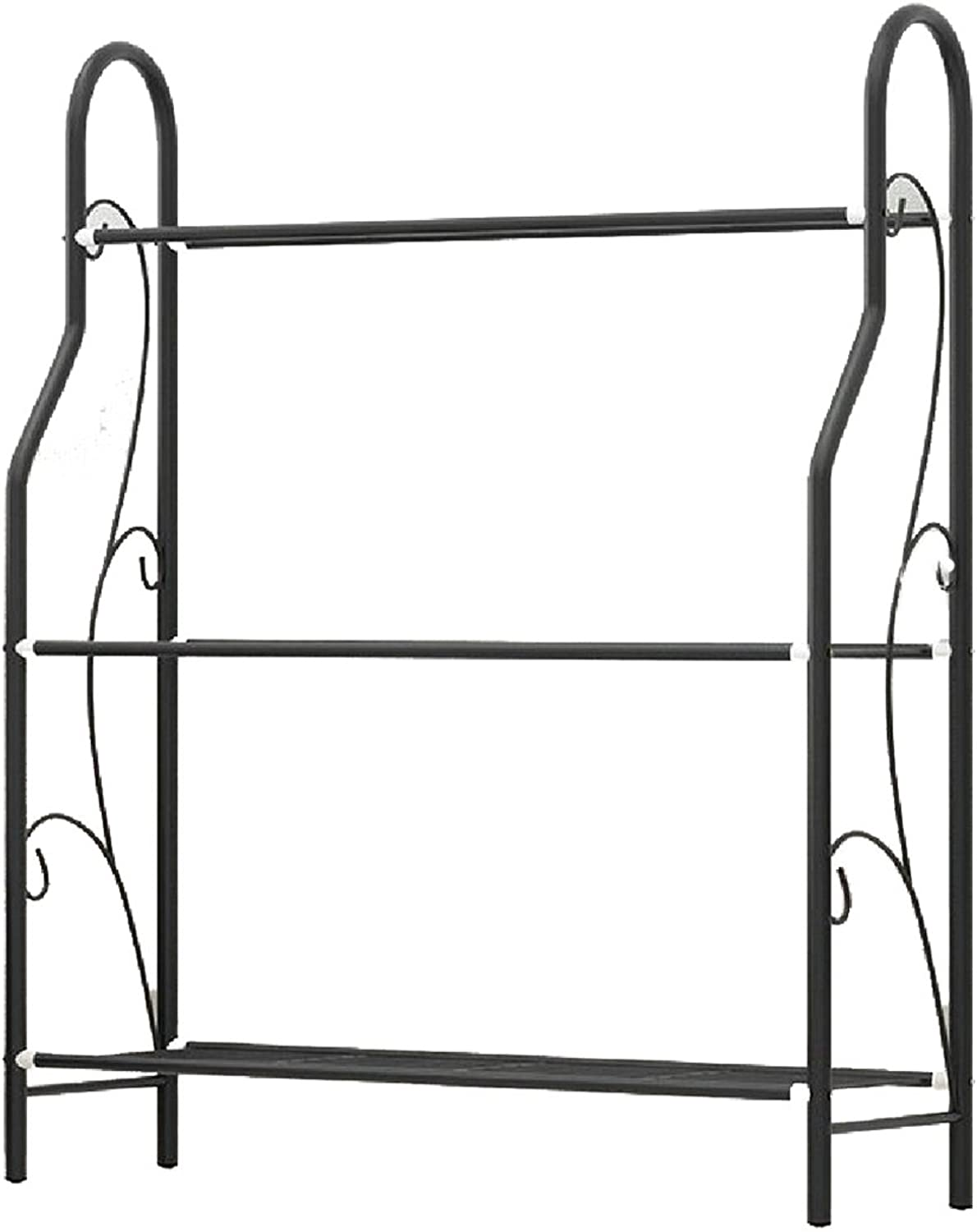 SportsX Shelving Unit Stackable Storage General Wide Open Turn-N-Tube 3-Tier Designs Ledge Shelf Black 3 Shelves