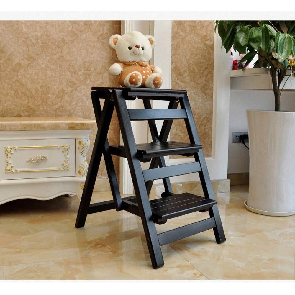 Escalera de mano Taburete plegable Taburete plegable de madera maciza Escalera plegable multifunción for el hogar de madera maciza Taburete con escalera Escalera interior Escalera de madera escalera d: Amazon.es: Electrónica