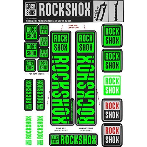 RockShox Aufklebersatz 35mm neongrün, Pike/Lyrik/Yari/Domain/Revelation, 11.4318.003.510 Ersatzteile, grün, Standrohre