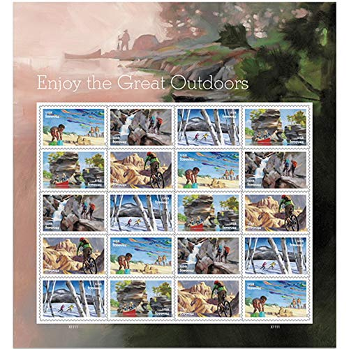 Enjoy The Great Outdoors Forever Postage Stamps Sheet of 20 First Class Celebration Vacation Wedding