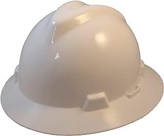 MSA V-Gard Full Brim Hard Hats w/FasTrac III Suspensions with Handy Tote Bag - White