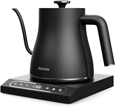 Gooseneck Electric Kettle Variable Temperature Control, Jocuu Pour Over Coffee Kettle Tea Kettle, 1200W Rapid Heating, Temper