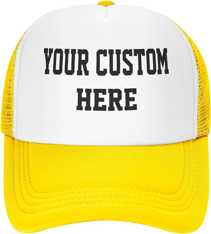 Custom Hat, Custom Text Baseball Cap, Personalized Mesh Trucker Hats, Men Women Universal Snapback Hat, Custom Peaked Cap
