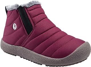 Jinouyy Boy's Girl's Snow Boots Winter Warm Sneakers Waterproof Outdoor Fur Lined Ankle Booties Shoes (Little Kid/Big Kid)