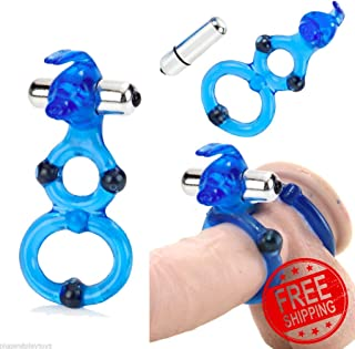 Moving Magnetic Double Rod Ring Shaft Stamina Enlarger Enhancer Easy to use42