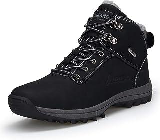 shoe Bottes de Neige d'hiver pour Hommes, Chaussures de randonnée antidérapantes et résistantes à l'usure, Bottes de rando...