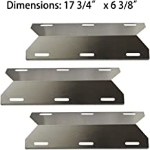 BBQ-Element Gas Grill Heat Plate Shields Replacement Parts for Jenn-Air 720-0336, 720-0337, 720-0512, 3-Pack Grill Burner Cover Heat Tent for Members Mark 720-0586A, Nexgrill and Other Grill Model