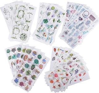 30 Feuilles Autocollants Stickers Motifs Plantes Fleurs Animaux Gommettes Décoratifs Cartoon Etiquettes Adhésif Deco de DI...