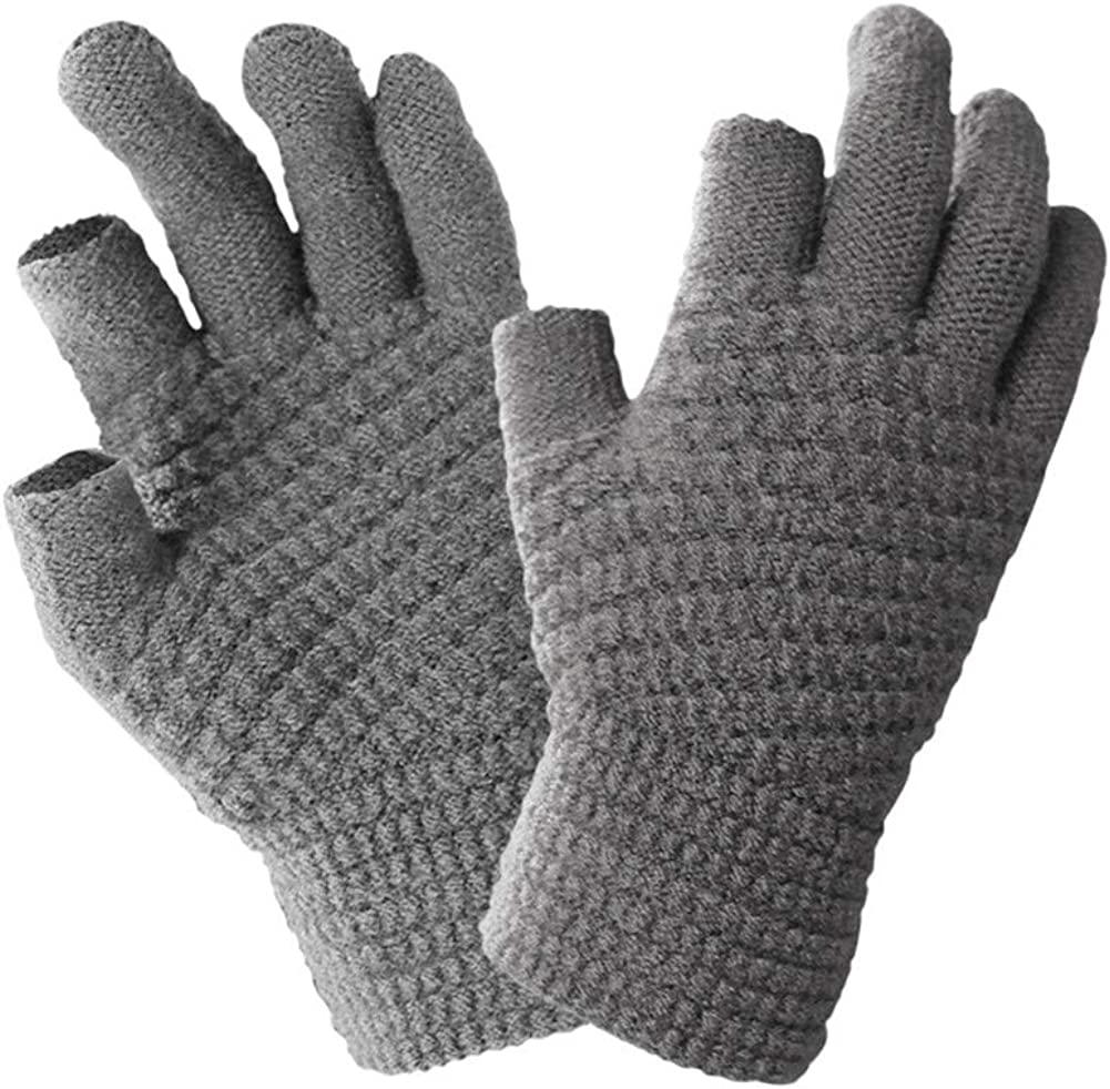 Winter Knit Gloves 2 Cut Ranking TOP15 Fingers Thermal Soft L Touchscreen Warm sold out