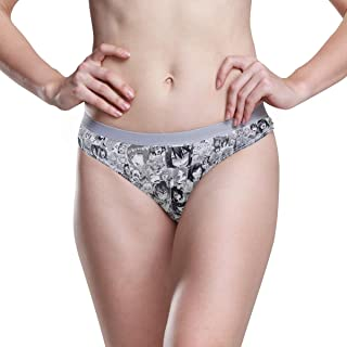 a34c40815773 KALAZANA Ahegeo Women's Underwear Hipster Panties Sexy Anime Girls Face  Breathable Soft Comfort Panty Bikini Briefs