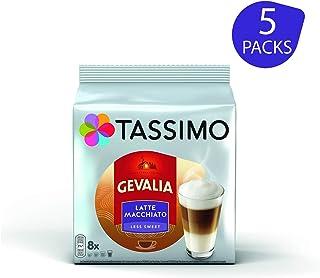 TASSIMO Gevalia - Capsulas de Latte Macchiato menos dulces
