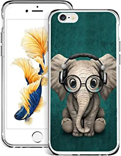 Slim Clear Elephant Music Case For iPhone 6s Plus 6 Plus Customized Design Soft TPU and Rubber Flexible Durable Shockproof iPhone 6s Plus 6 Plus Protective Case-Anti-Slippery