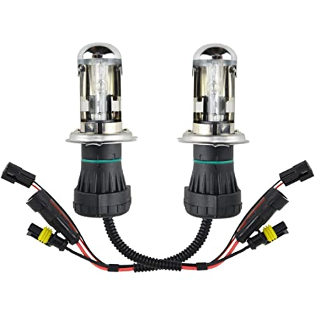 Innovited 55W HID H4-3 9003 6000K Bi xenon Hi//Lo Replacement Bulbs With Harness