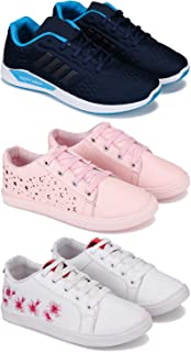 SWIGGY Combo Pack of 3 Sports and Running Shoes for Women