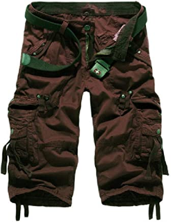 Andopa Mens Sport Casual Fall Multi-Pocket Rugged Wear Straight Pants