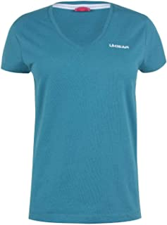 LA Gear Womens Ladies V Neck T Shirt Tee Top Short Sleeve Teal2 20 (XXXL)