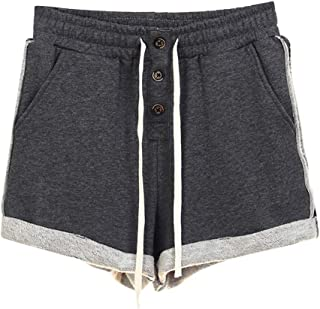 Abetteric Mens Casual Spliced Loose Fit Shorts Workout Beach Trousers