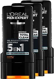 L'Oréal Men Expert Total Clean Gel de Ducha 5 en 1 Men 300 ml - juego de 3