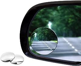 Yakamoz Lot de 2 Voiture Rétroviseurs Extérieur d'Angle Mort Ronde Auto Rétroviseurs Aveugle Miroir d'Angle Mort Grand Angle Réglable Blind Spot Mirror