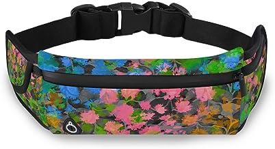 Kleurrijke Abstracte Bloemen Running Riem Taille Pack voor Fitness Fietsen Oefening Mobiele Telefoon Waterdichte Verstelba...