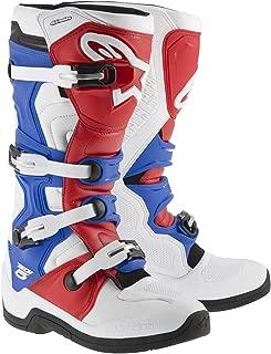Alpinestars Tech-5 Boots (5) (White/Red/Blue)