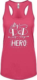 My Dad is My Hero Womens Racerback Tank Top