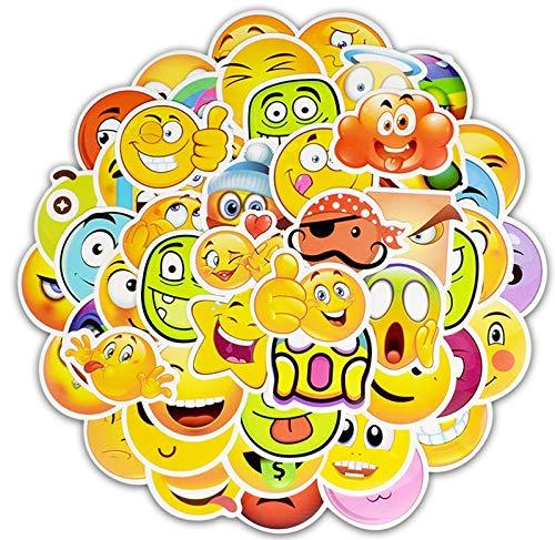 Smile Face Emoji Adesivi Skateboard Impermeabile Valigia Telefono Laptop Bagagli Adesivi Divertenti Ricompensa Bambini Giocattolo Classico50Pz