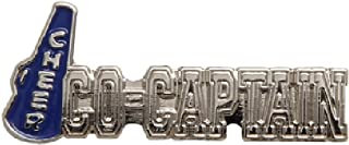 1 Cheer Co-Captain Lapel Pin (Silver/Blue)