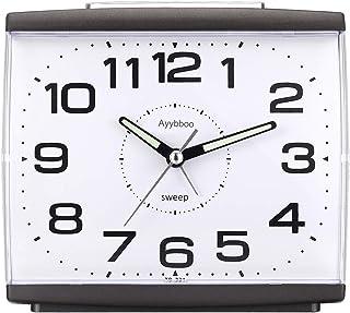 PROKING Réveil Matin à Piles Retro Réveil Silencieux sans Tic-Tac, Grand Cadran Réveil Original Analogique Quartz Alarme R...