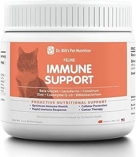 Dr. Bill's Feline Immune Support | Pet Supplement | Immune Support for Cats | Colostrum for Cats | Includes Beta Glucan, L...