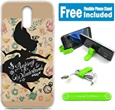 [Ashley Cases] for LG [Aristo] [Aristo 2] [Aristo 2 Plus] [Tribute Dynasty] [K8 2018] Cover Case Skin with Flexible Phone Stand - Alice in Wonderland Shadow Falling